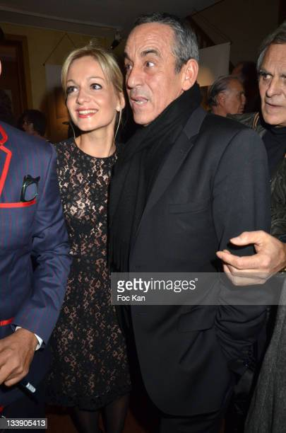 Audrey CrespoMara and Thierry Ardisson attend the Christian Louboutin 20th Anniversary Book Launch Cocktail at Christian Louboutin Galerie VeroDodat...