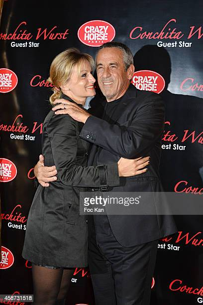 Audrey CrespoMara and Thierry Ardisson attend the Conchita Wurst Crazy Horse Show Red Carpet Arrivals In Paris At the Crazy Horse Saloon on November...