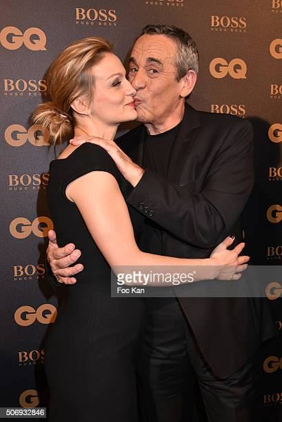 Audrey CrespoMara and Thierry Ardisson attend the 'GQ Men Of The Year Awards 2015' as part of Paris Fashion Week on January 25 2016 in Paris France