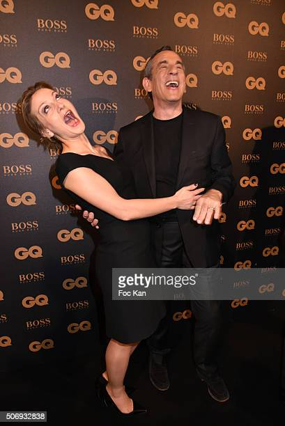 Audrey CrespoMara andThierry Ardisson attend the 'GQ Men Of The Year Awards 2015' as part of Paris Fashion Week on January 25 2016 in Paris France