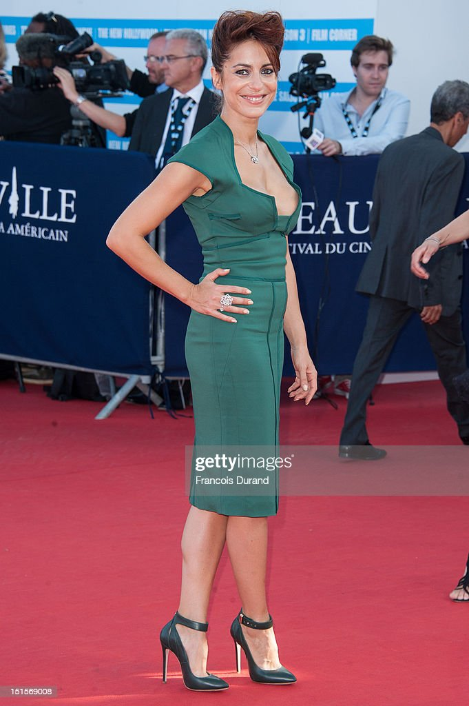 Audrey Dana arrives at the closing ceremony of the 38th Deauville American Film Festival on September 8, 2012 in Deauville, France.