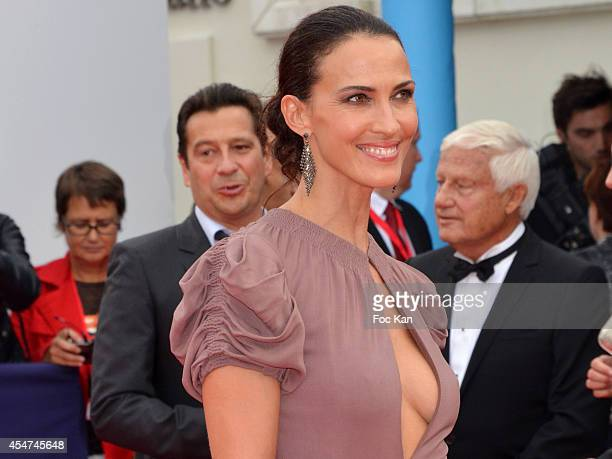 Audrey Dana arrives at the opening ceremony of 40th Deauville American Film Festival on September 5 2014 in Deauville France