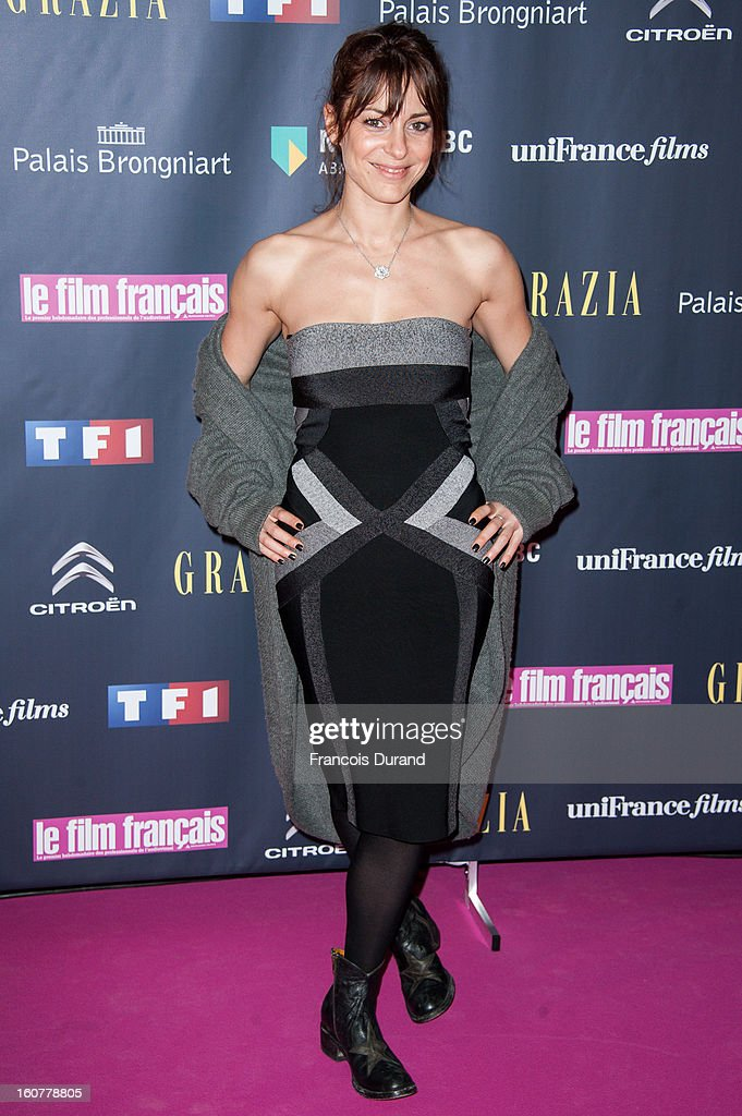 Audrey Dana attends the 'Trophees Du Film Francais' 20th Ceremony at Palais Brongniart on February 5, 2013 in Paris, France.