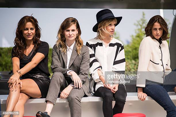 Audrey Dana Christine and the Queens Clemence Poesy and Anne Berest pose at 'Jury Revelation Cartier' Photocall at Villa Cartier during the 40th...