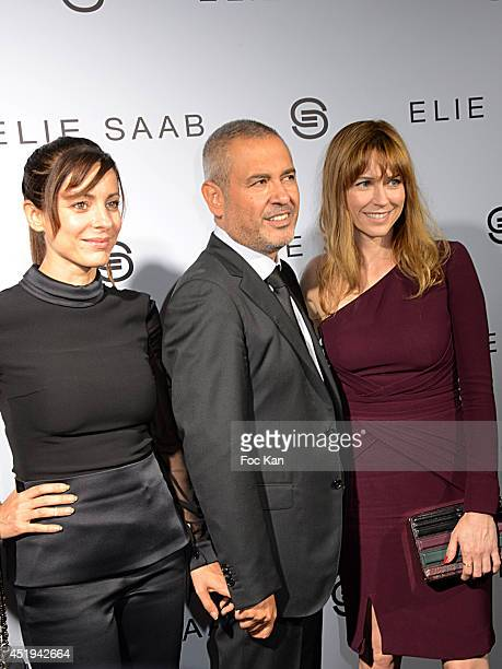 Audrey Dana Elie Saab and Marie Jose Croze attend the Elie Saab show as part of Paris Fashion Week Haute Couture Fall/Winter 20142015 at Pavillon...