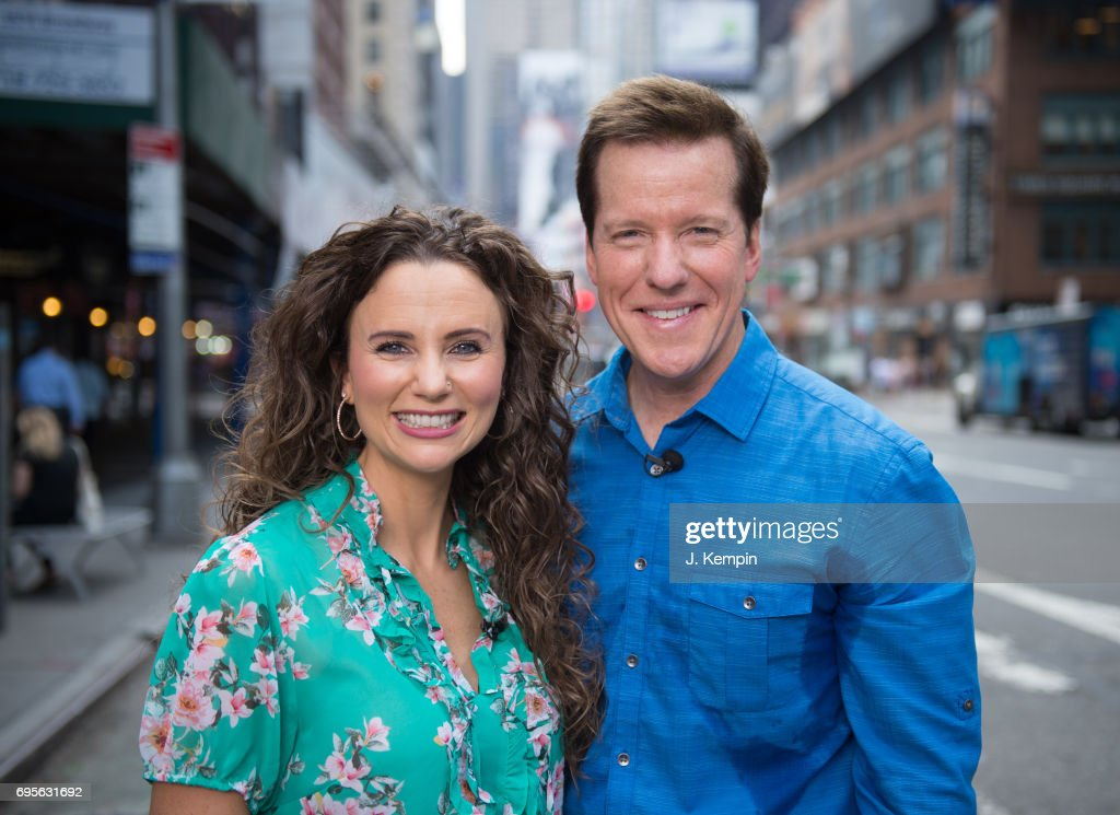 Audrey Dunham and Jeff Dunham visit Extra on June 13, 2017 in New York City.