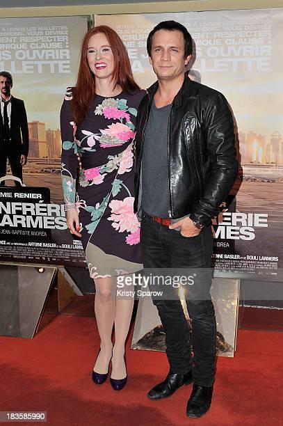Audrey Fleurot and Jeremie Renier atttend the 'La Confrerie Des Larmes' Paris Premiere at the UGC Cine Cite des Halles on October 7 2013 in Paris...