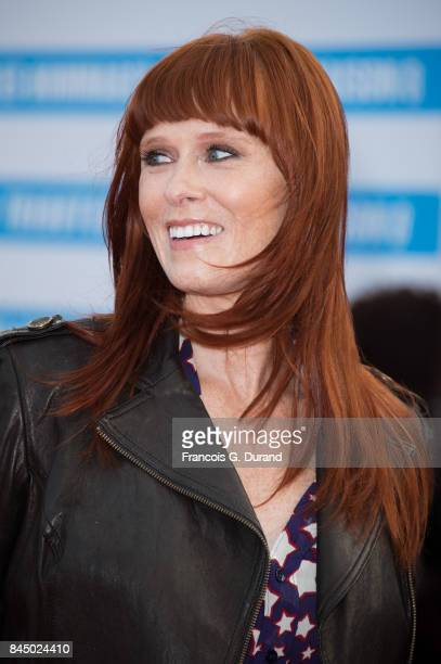Audrey Fleurot arrives at the closing ceremony of the 43rd Deauville American Film Festival on September 9 2017 in Deauville France