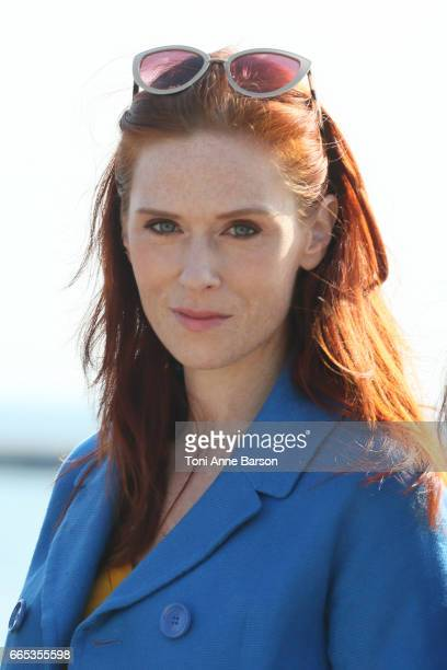 Audrey Fleurot attends photocall for MIPTV 2017 Opening and Cannes Television Series Festival launching in 2018 on April 3 2017 in Cannes France
