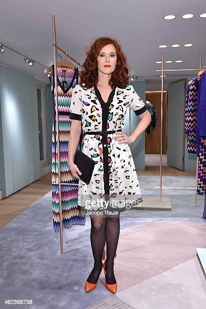 Audrey Fleurot attends the Missoni opening store at 219 Rue Saint Honore during the Paris Fashion Week Haute Couture Spring/Summer 2015 on January 27...