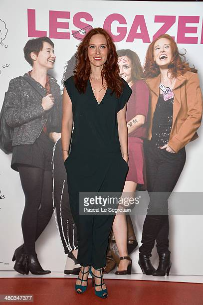 Audrey Fleurot attends the Paris premiere of 'Les Gazelles' film at Cinema Gaumont Opera on March 24 2014 in Paris France