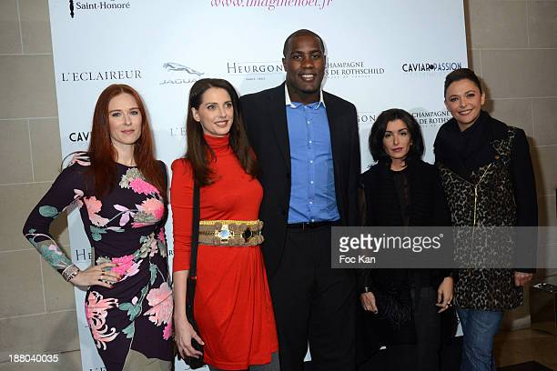 Audrey Fleurot Frederique Bel Teddy Riner Marion Bartoli and Sandrine Quetier attend the 'Winter Time 2013' Cocktail at L'Eclaireur Cafe on November...