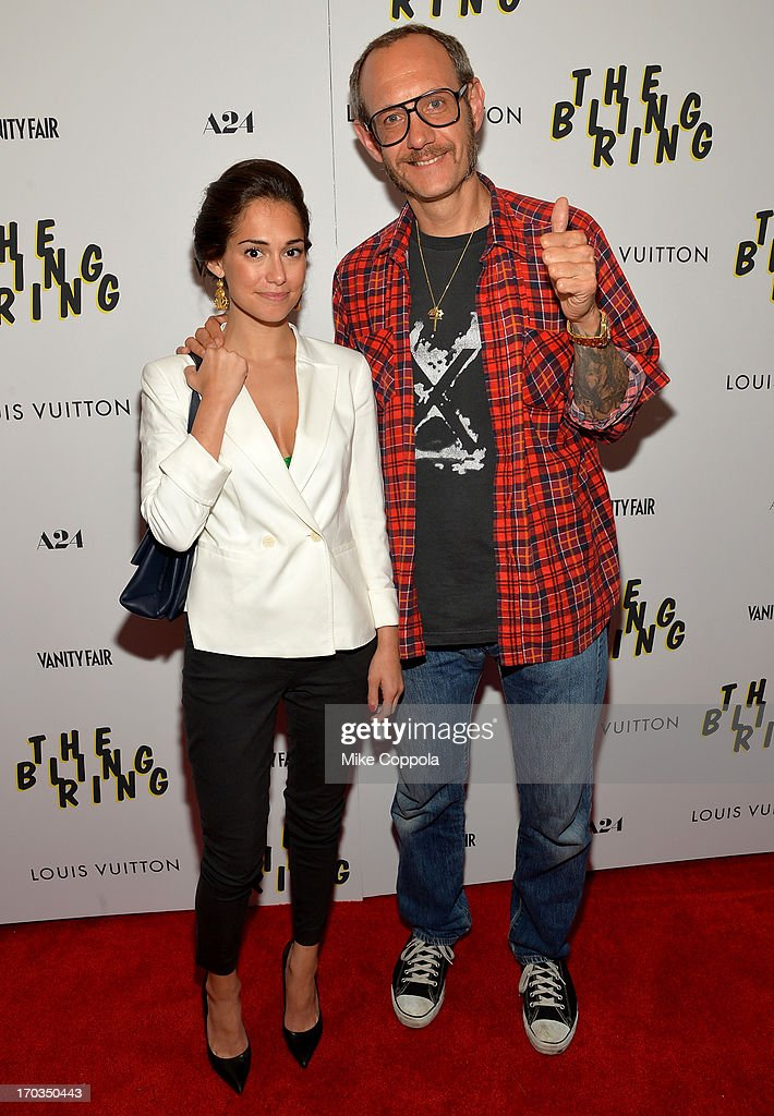 Audrey Gelman and photographer <a gi-track='captionPersonalityLinkClicked' href=/galleries/search?phrase=Terry+Richardson&family=editorial&specificpeople=758714 ng-click='$event.stopPropagation()'>Terry Richardson</a> attend 'The Bling Ring' screening at Paris Theatre on June 11, 2013 in New York City.