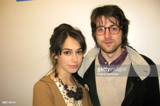 Audrey Gelman and Teddy Blanks attend Delusional Downtown Divas Art Exhibit at APF Lab on January 9 2009 in New York City