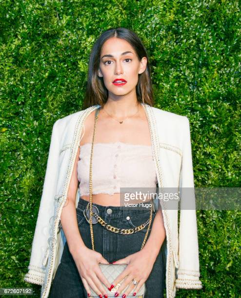 Audrey Gelman attends CHANEL Tribeca Artists Dinner at Balthazer on April 24 2017 in New York City