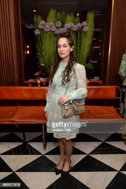 Audrey Gelman attends the Gucci x Angelica Hicks private dinner celebration on May 18 2017 in New York City