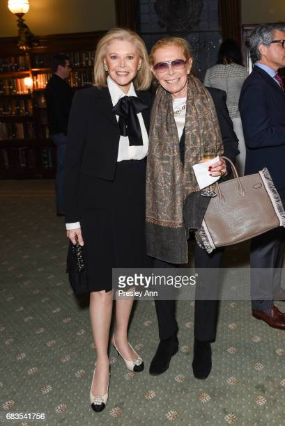 Audrey Gruss and Lee Freund attend Audrey Gruss' Hope for Depression Research Foundation Dinner with Author Daphne Merkin at The Metropolitan Club on...