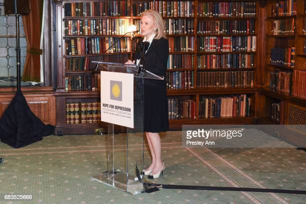 Audrey Gruss attends Audrey Gruss' Hope for Depression Research Foundation Dinner with Author Daphne Merkin at The Metropolitan Club on May 15 2017...