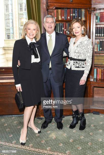 Audrey Gruss Carl Adams and Margo Langenberg attend Audrey Gruss' Hope for Depression Research Foundation Dinner with Author Daphne Merkin at The...