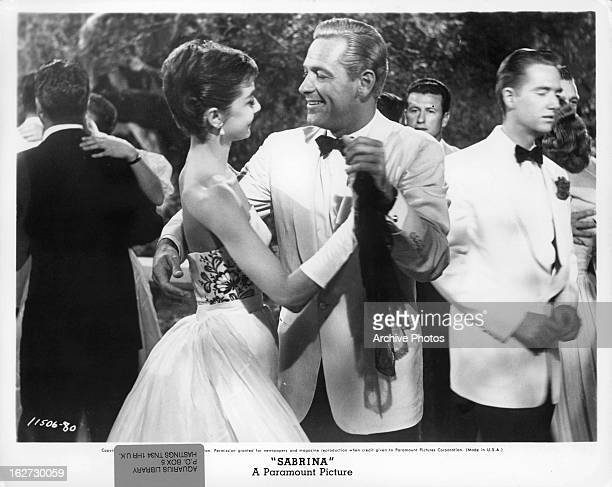 Audrey Hepburn and William Holden dancing in a scene from the film 'Sabrina' 1954