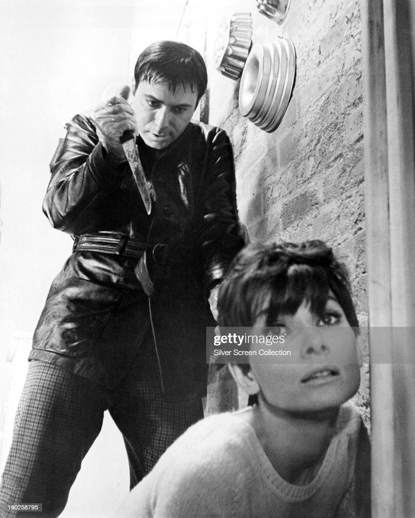 Audrey Hepburn as Susy Hendrix and Alan Arkin as Harry Roat in a publicity still for 'Wait Until Dark' directed by Terence Young 1967
