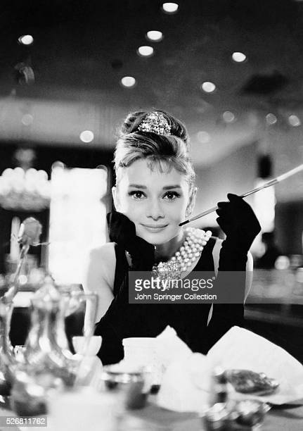 Audrey Hepburn in evening gloves and tiara in Blake Edwards' Breakfast at Tiffany's