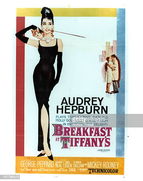 Audrey Hepburn in movie art for the film 'Breakfast At Tiffany's' 1961