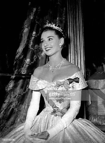 Audrey Hepburn plays the beautiful Princess Ann in the film 'Roman Holiday' Rome Italy 1953