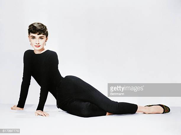 Audrey Hepburn poses for her publicity photo to promote the film Sabrina