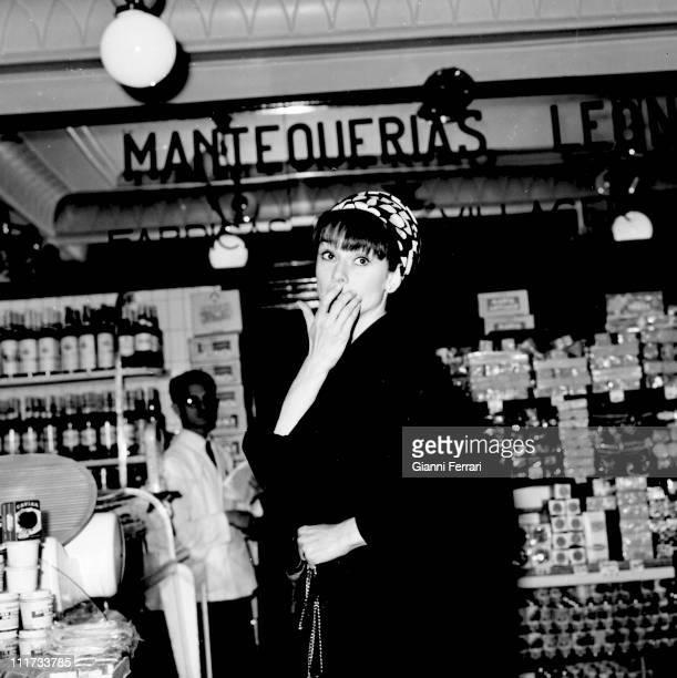 Audrey Hepburn shopping in Madrid Madrid Spain