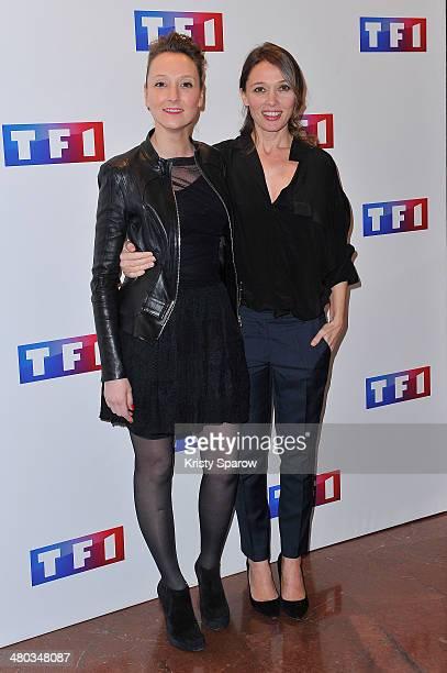 Audrey Lamy and Anne Marivin attend the 'Ce Soir Je Vais Tuer L'Assassin De Mon Fils' Paris Premiere at Cinema Elysee Biarritz on March 24 2014 in...