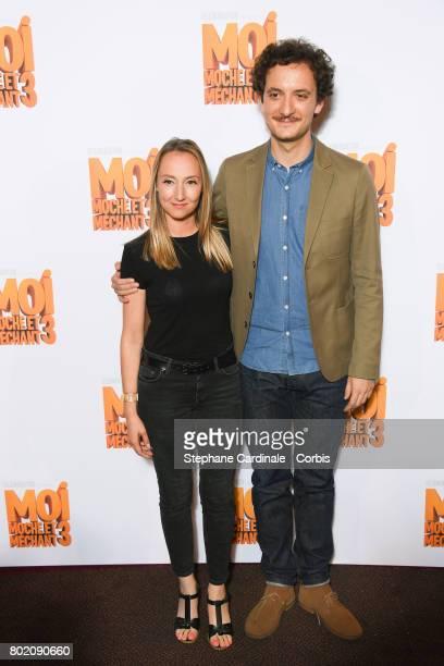 Audrey Lamy and David Marsais attend the Despicable Me Paris Premiere at Cinema Gaumont Marignan on June 27 2017 in Paris France