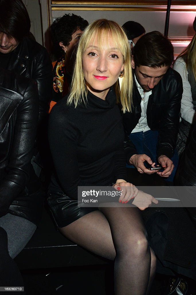 Audrey Lamy attends the Jitrois - Front Row - PFW F/W 2013 at Hotel Saint James & Albany on March 6, 2013 in Paris, France.