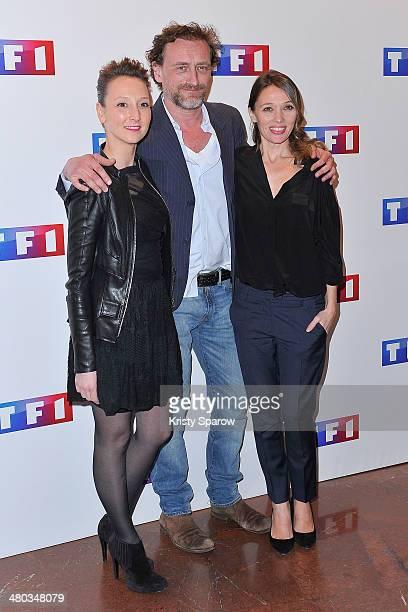 Audrey Lamy Paul Rouve and Anne Marivin attend the 'Ce Soir Je Vais Tuer L'Assassin De Mon Fils' Paris Premiere at Cinema Elysee Biarritz on March 24...