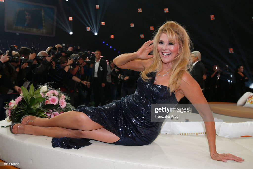 Audrey Landers during the photo call for TV Show 'Top, die Wette gilt! 75 Jahre Frank Elstner' in Berlin at on April 4, 2017 in Berlin, Germany.