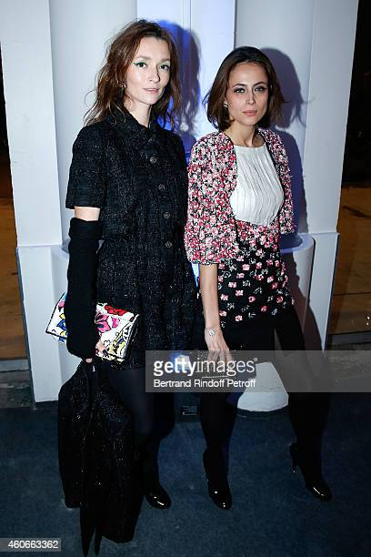 Audrey Marnay and writer Anne Berest attend the Annual Charity Dinner hosted by the AEM Association Children of the World for Rwanda Held at Espace...