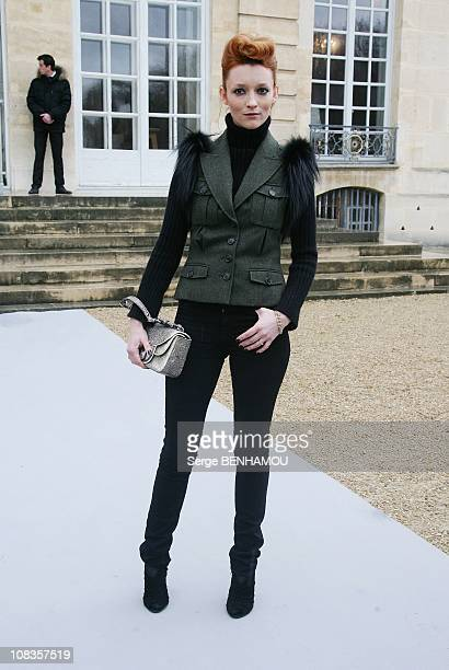 Audrey Marnay arrives at Christian Dior Fashion Week at Musee Rodin during Paris Fashion Week on January 24 2011 in Paris France