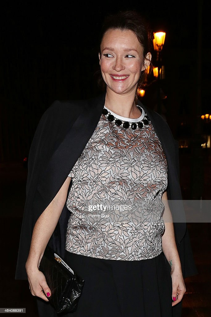 <a gi-track='captionPersonalityLinkClicked' href=/galleries/search?phrase=Audrey+Marnay&family=editorial&specificpeople=622579 ng-click='$event.stopPropagation()'>Audrey Marnay</a> arrives at the Alexis Mabille show as part of Paris Fashion Week Haute-Couture Spring/Summer 2014 on January 20, 2014 in Paris, France.