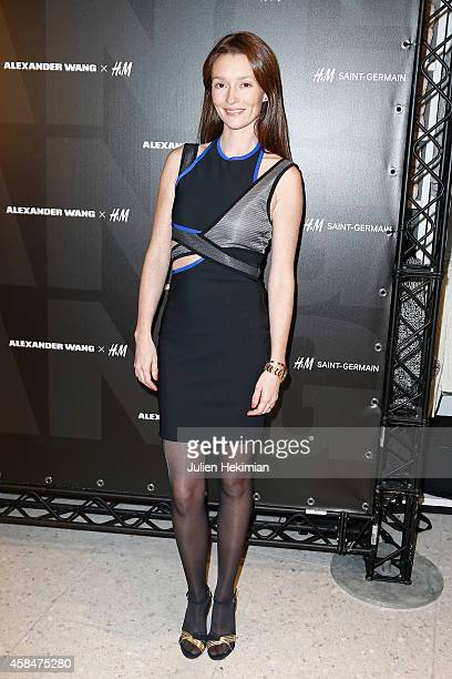 Audrey Marnay attends the Alexander Wang x HM Collection Launch at the HM Boulevard SaintGermain store on November 5 2014 in Paris France