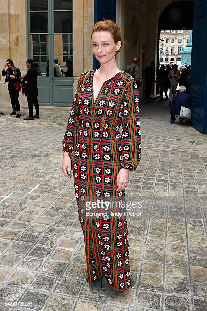 Audrey Marnay attends the Alexis Mabille Haute Couture Fall/Winter 20162017 show as part of Paris Fashion Week on July 5 2016 in Paris France