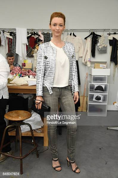 Audrey Marnay attends the Chanel Haute Couture Fall/Winter 20162017 show as part of Paris Fashion Week on July 5 2016 in Paris France