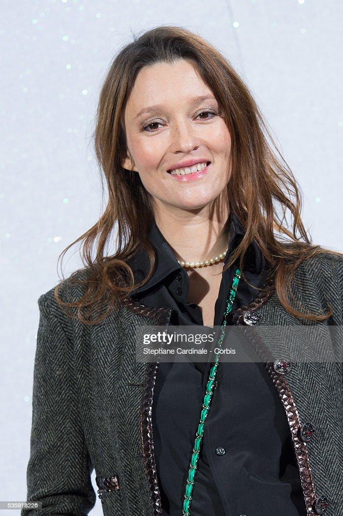 Audrey Marnay attends the Chanel show as part of Paris Fashion Week Haute-Couture Spring/Summer 2014, at Grand Palais in Paris.