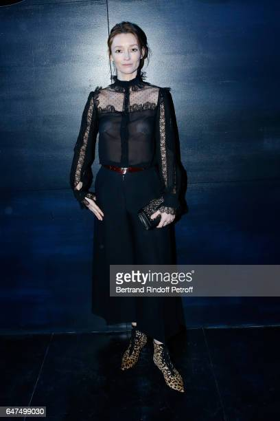 Audrey Marnay attends the Christian Dior show as part of the Paris Fashion Week Womenswear Fall/Winter 2017/2018 on March 3 2017 in Paris France