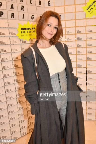 Audrey Marnay attends the 'Entendu Au Bon Marche' Loic Prigent Book Launch Cocktail Fest Noz at Bon Marche on February 28 2017 in Paris France