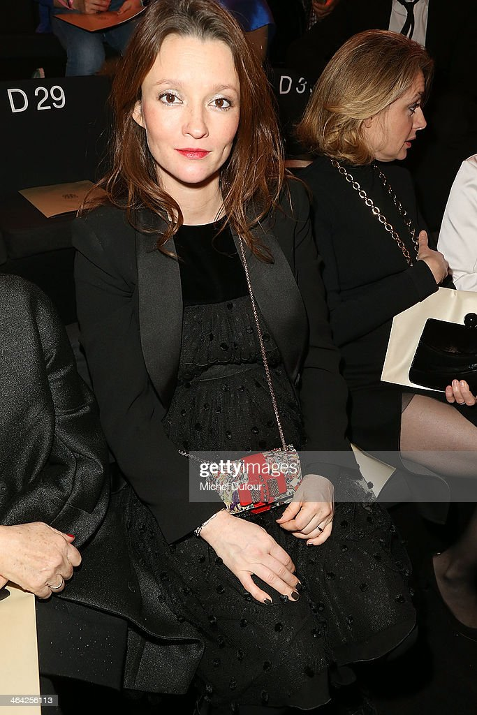 <a gi-track='captionPersonalityLinkClicked' href=/galleries/search?phrase=Audrey+Marnay&family=editorial&specificpeople=622579 ng-click='$event.stopPropagation()'>Audrey Marnay</a> attends the Giorgio Armani show as part of Paris Fashion Week Haute Couture Spring/Summer 2014 on January 21, 2014 in Paris, France.
