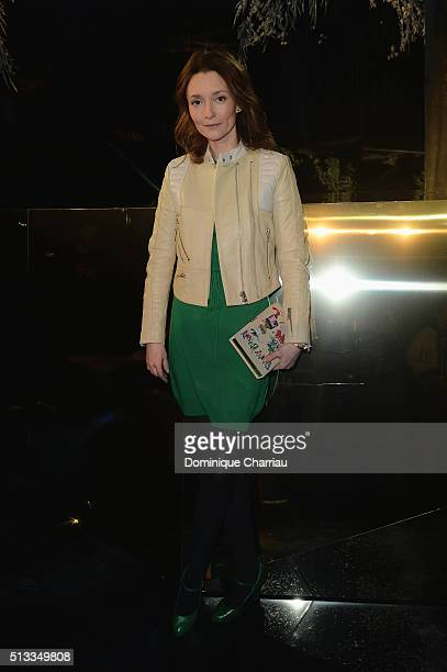 Audrey Marnay attends the HM show as part of the Paris Fashion Week Womenswear Fall/Winter 2016/2017 on March 2 2016 in Paris France