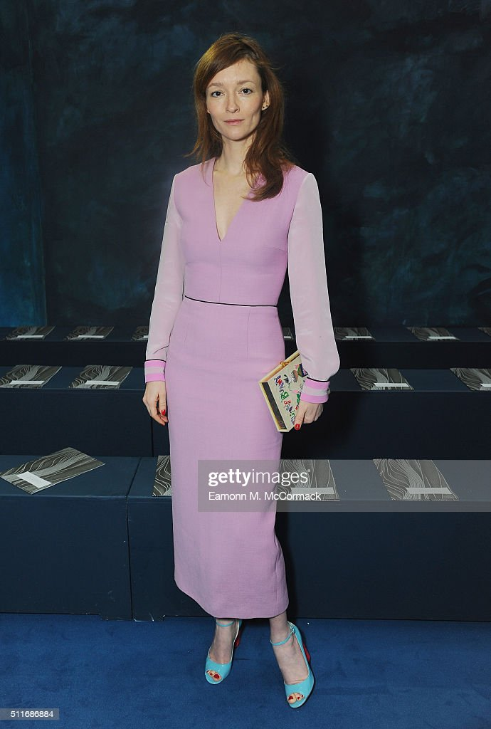 Audrey Marnay attends the Roksanda show during London Fashion Week Autumn/Winter 2016/17 at on February 22, 2016 in London, England.