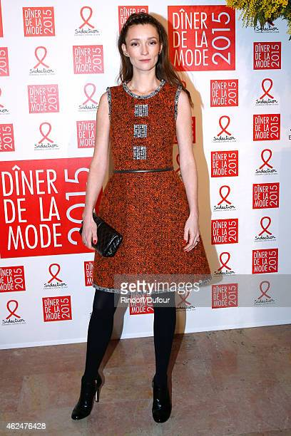 Audrey Marnay attends the Sidaction Gala Dinner 2015 at Pavillon d'Armenonville on January 29 2015 in Paris France