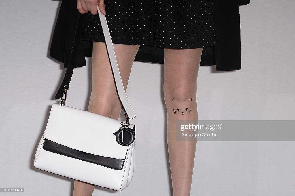 Audrey Marnay detail attends the Christian Dior show as part of the Paris Fashion Week Womenswear Fall/Winter 2016/2017 on March 4 2016 in Paris...