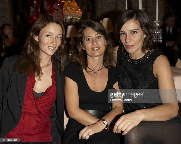 Audrey Marnay Karine Huck and Zoe Felix during Auction of Goyard Handbags Designed by Celebrities for the 'Institut Curie' November 28 2006 at...